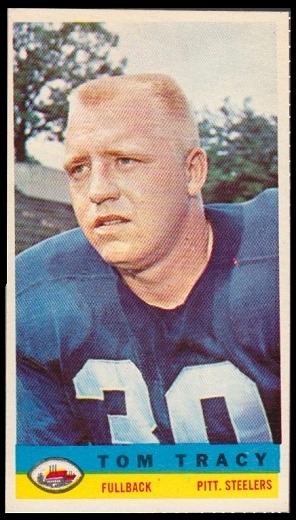 Tom Tracy 1959 Bazooka football card