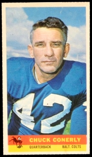 Charley Conerly 1959 Bazooka football card