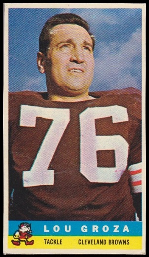 Auctions In Ohio >> Lou Groza - 1959 Bazooka #8 - Vintage Football Card Gallery
