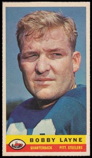 Bobby Layne 1959 Bazooka football card
