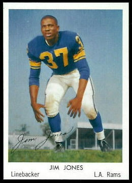 Jim Jones 1959 Bell Brand Rams football card