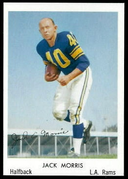 Jack Morris 1959 Bell Brand Rams football card