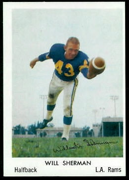 Will Sherman 1959 Bell Brand Rams football card