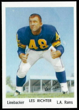 Les Richter 1959 Bell Brand Rams football card