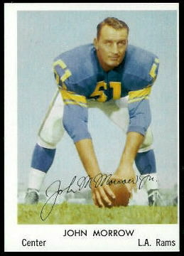 John Morrow 1959 Bell Brand Rams football card