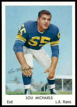Lou Michaels 1959 Bell Brand Rams football card