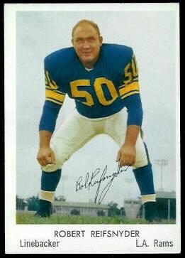 Bob Reifsnyder 1959 Bell Brand Rams football card
