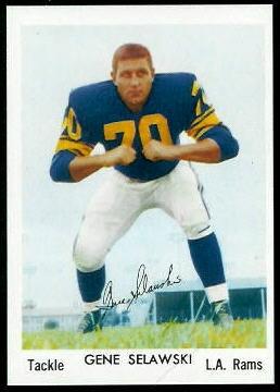 Gene Selawski 1959 Bell Brand Rams football card
