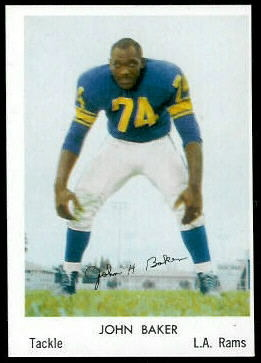 John Baker 1959 Bell Brand Rams football card