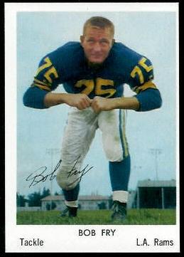 Bob Fry 1959 Bell Brand Rams football card