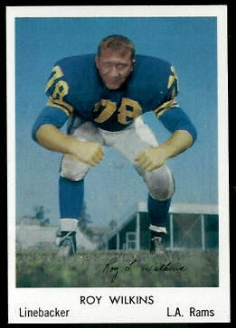 Roy Wilkins 1959 Bell Brand Rams football card