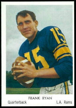 Frank Ryan 1959 Bell Brand Rams football card