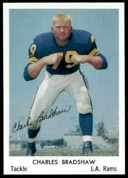Charlie Bradshaw 1959 Bell Brand Rams football card