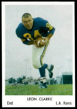 Leon Clarke 1959 Bell Brand Rams football card