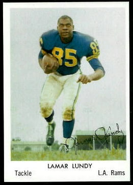 Lamar Lundy 1959 Bell Brand Rams football card