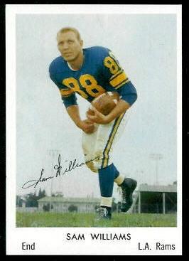 Sam Williams 1959 Bell Brand Rams football card