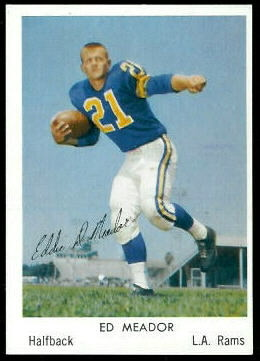Ed Meador 1959 Bell Brand Rams football card