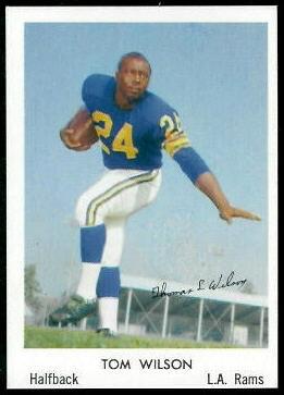 Tom Wilson 1959 Bell Brand Rams football card