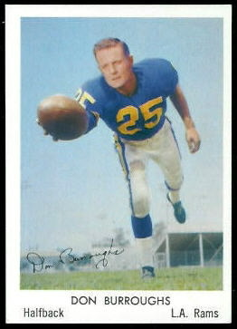 Don Burroughs 1959 Bell Brand Rams football card