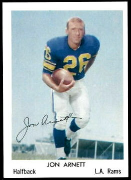 Jon Arnett 1959 Bell Brand Rams football card