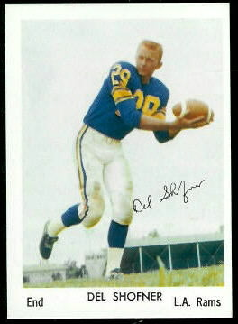 Del Shofner 1959 Bell Brand Rams football card