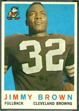 Jim Brown 1959 Topps football card