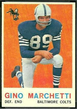 Gino Marchetti 1959 Topps football card