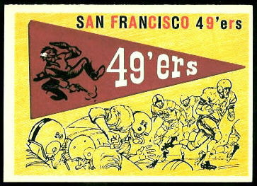 49ers Pennant 1959 Topps football card