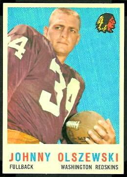 John Olszewski 1959 Topps football card