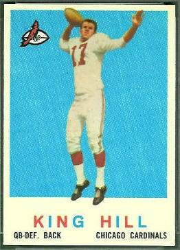 King Hill 1959 Topps football card