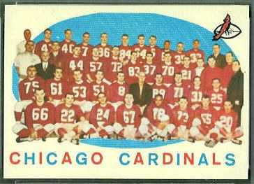 Chicago Cardinals Team 1959 Topps football card