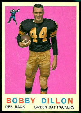 Bobby Dillon 1959 Topps football card