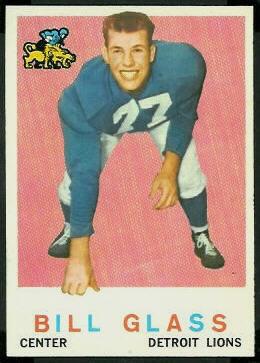 Bill Glass 1959 Topps football card