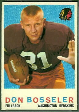 Don Bosseler 1959 Topps football card