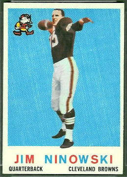Jim Ninowski 1959 Topps football card