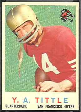 Y.A. Tittle 1959 Topps football card