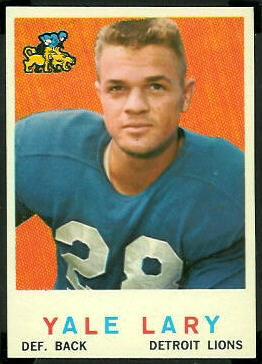 Yale Lary 1959 Topps football card