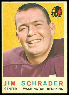 Jim Schrader 1959 Topps football card
