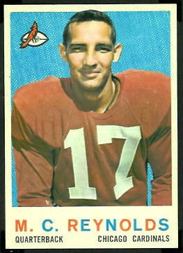 M.C. Reynolds 1959 Topps football card