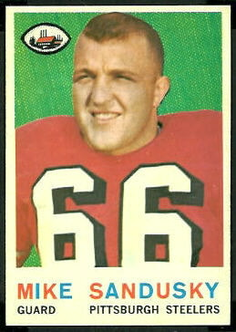 Mike Sandusky 1959 Topps football card