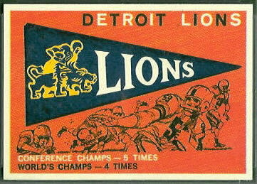 Lions Pennant 1959 Topps football card
