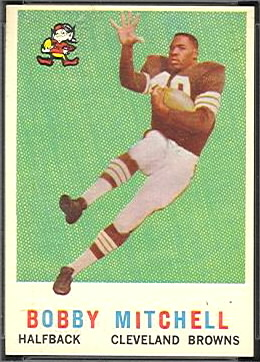 Bobby Mitchell 1959 Topps football card