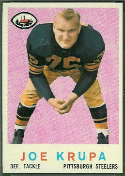 Joe Krupa 1959 Topps football card