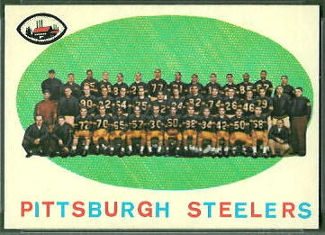 Pittsburgh Steelers Team 1959 Topps football card