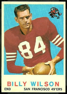 Billy Wilson 1959 Topps football card
