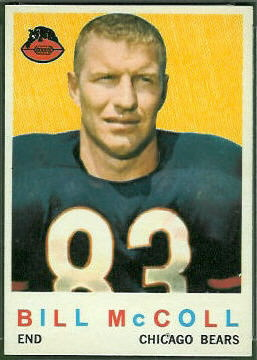 Bill McColl 1959 Topps football card