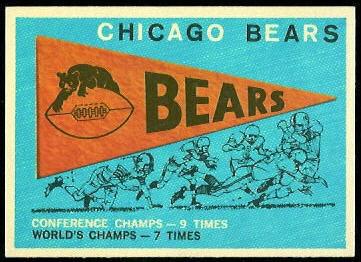 Bears Pennant 1959 Topps football card