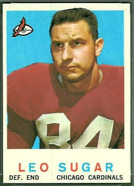 Leo Sugar 1959 Topps football card