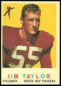 Jim Taylor 1959 Topps football card