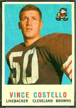 Vince Costello 1959 Topps football card